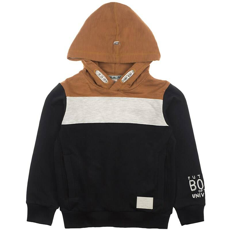 Sturdy | Hooded Sweater Brown Grey Black