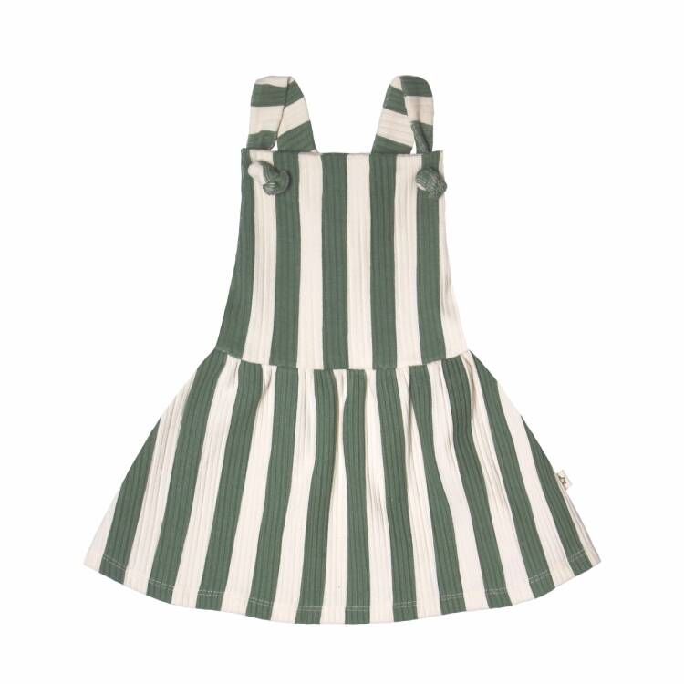 Your Wishes   Dungaree Dress Bold Stripes