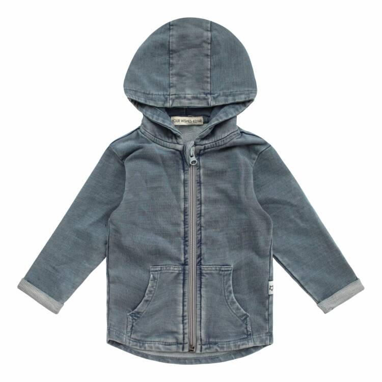 Your Wishes   Capuchonvest Knitted Denim