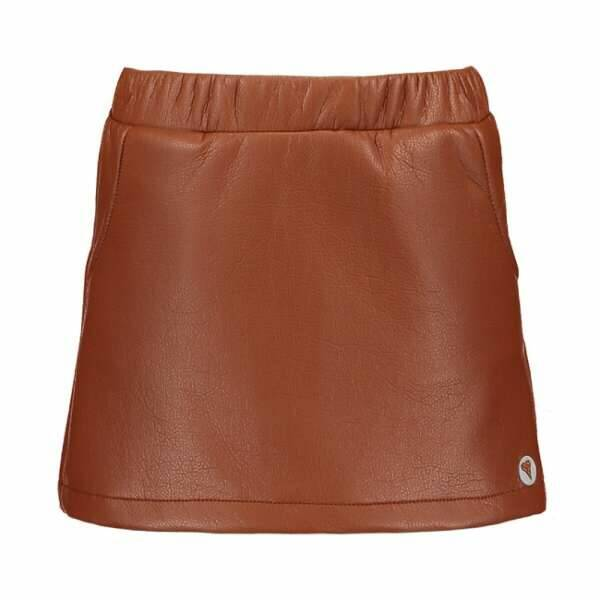 Moodstreet | Skirt Fake Leather Brown