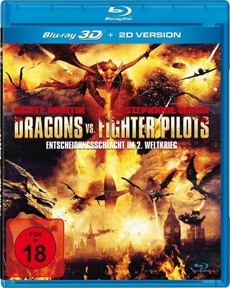Dragons Vs. Fighter Pilots Real 3D Blu-ray