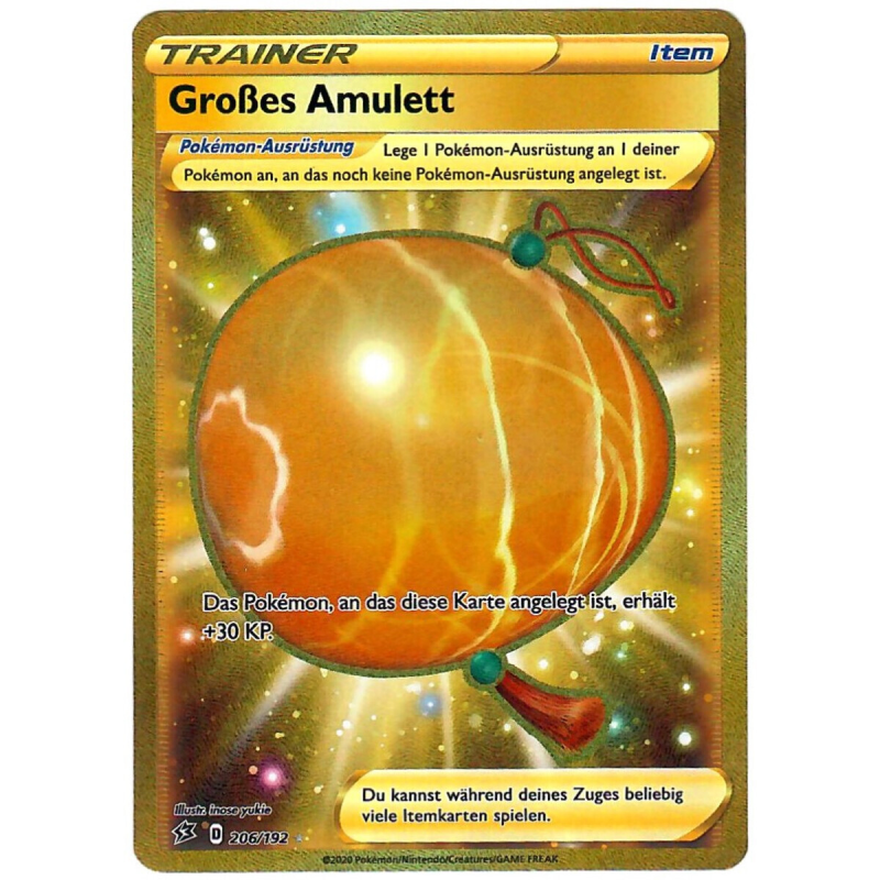 Großes Amulett - 206/192 - Clash der Rebellen-(TK)- Secret Rare - Gold Rare