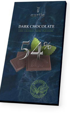 Chocolade Calorie-arm donker 100gr.