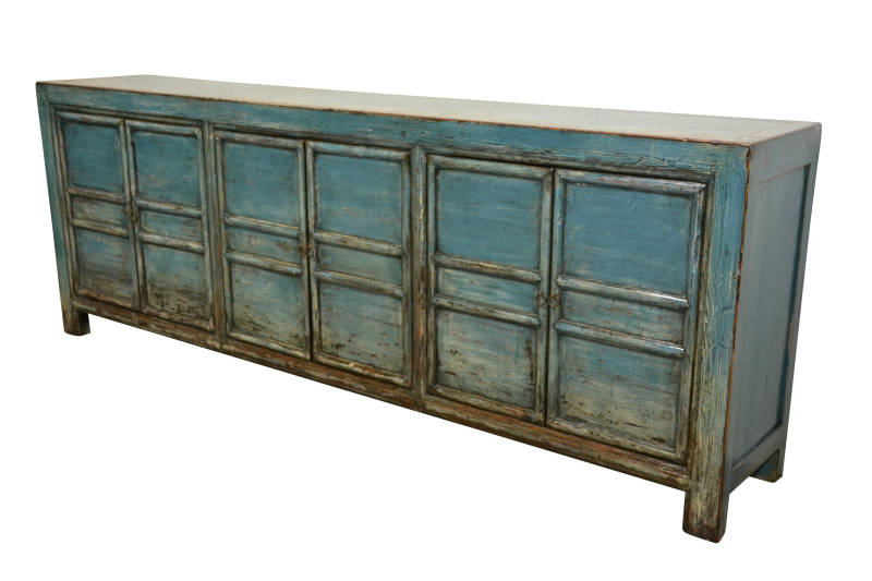 (123) Chinees dressoir 249cm. breed