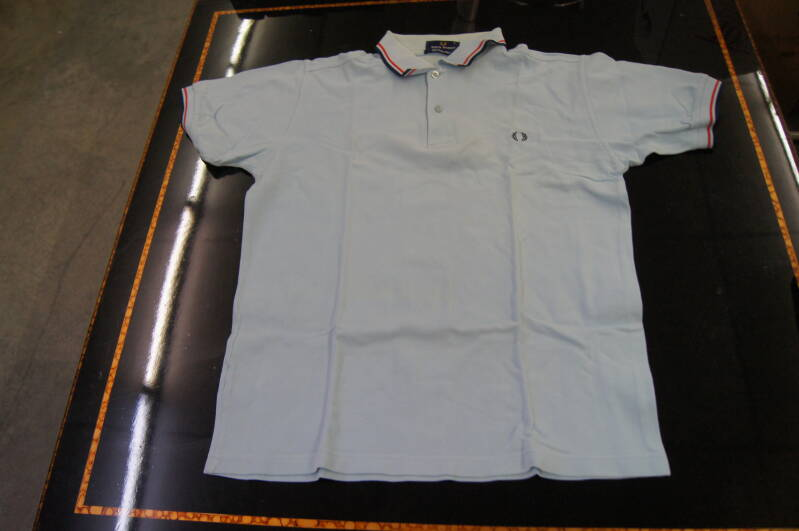 Heren Polo - Fred Perry - Lichtblauw - Maat SMALL