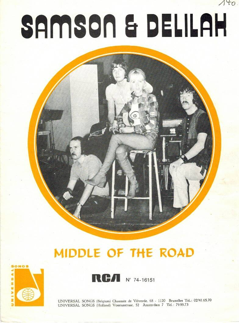 Partituur - Middle of the Road - Samson & Delilah