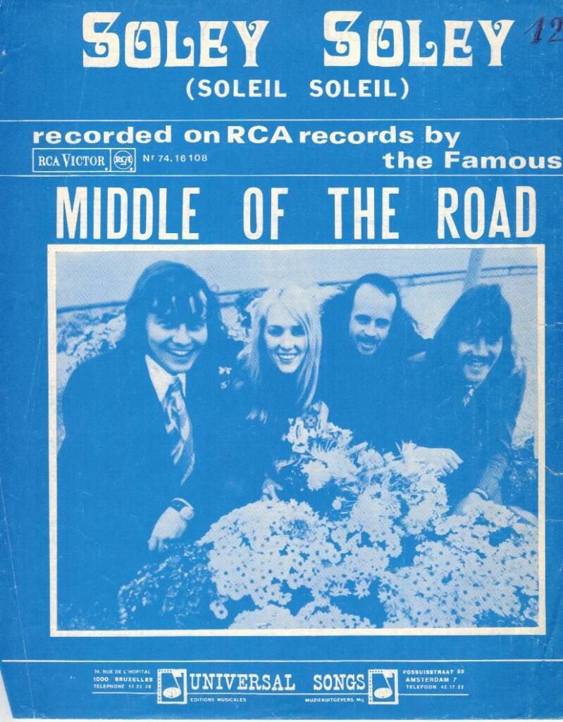 Partituur - Middle of The Road - Soley Soley