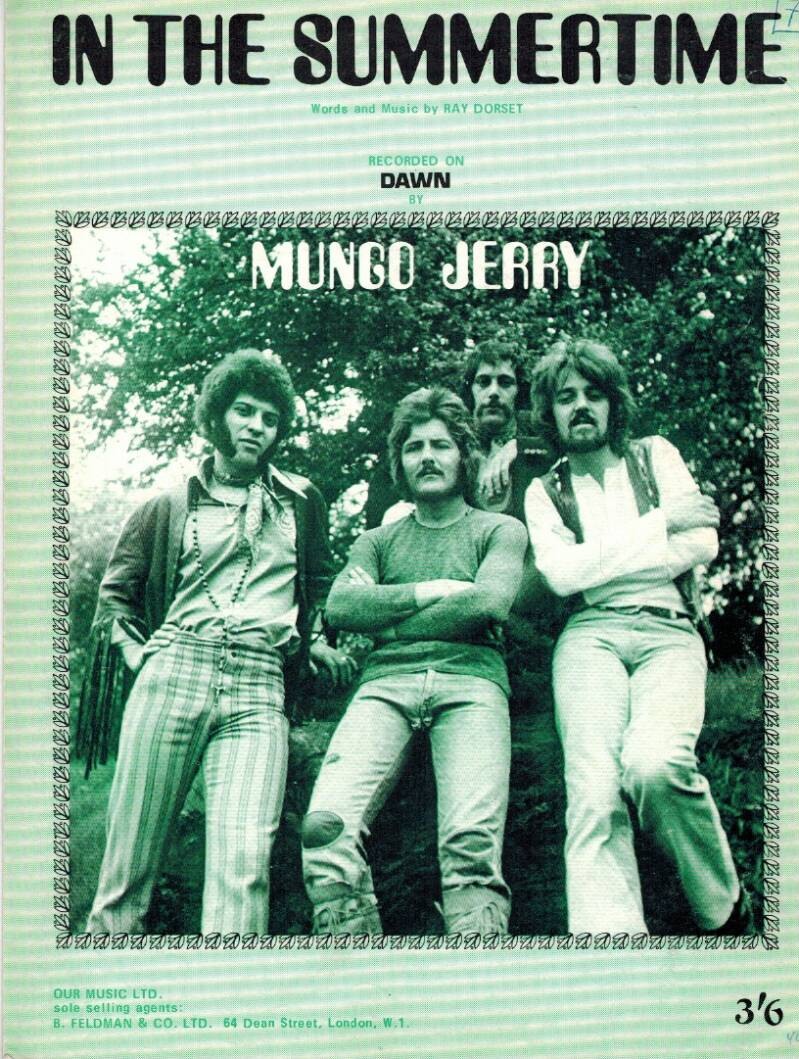 Partituur - Mungo Jerry - In the Summertime