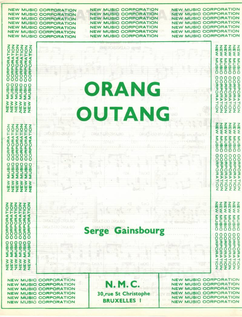Orang - Outang   Serge Gainsbourg
