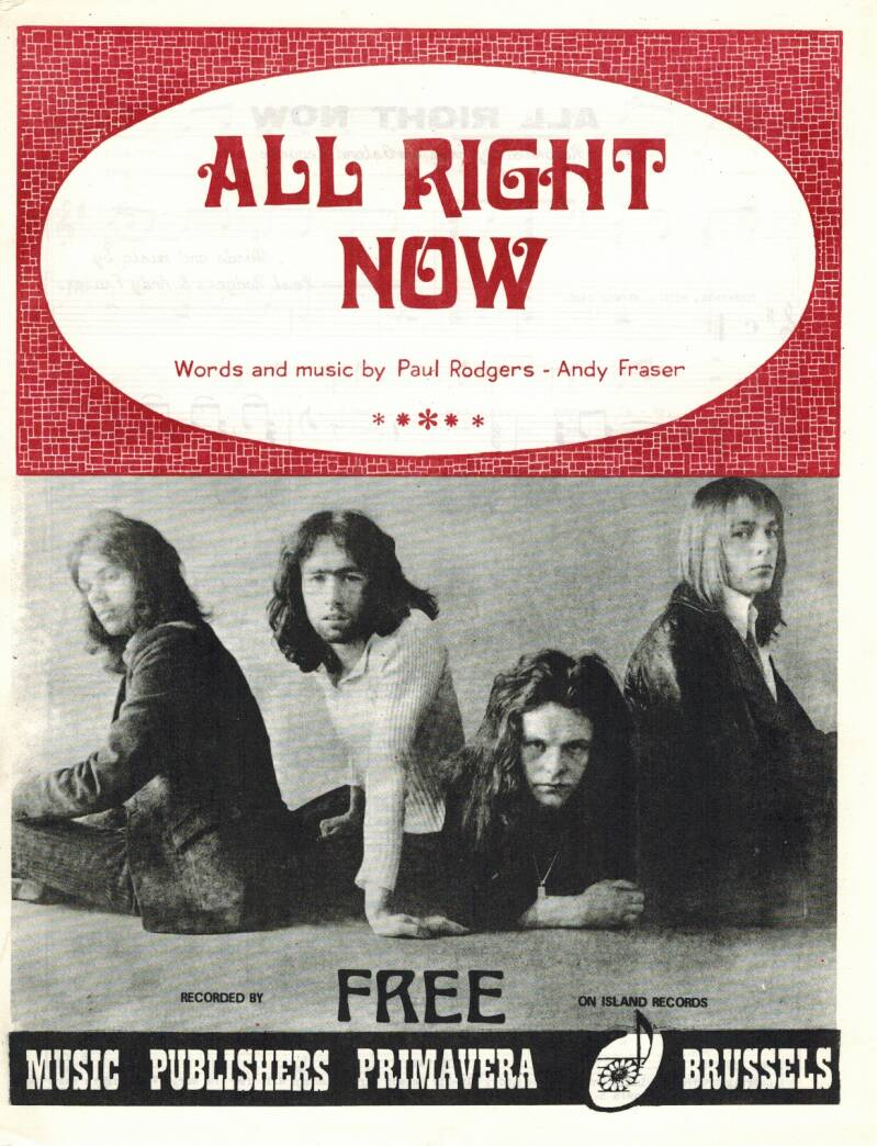 All right now - Free - Paul Rodgers - Andy Fraser
