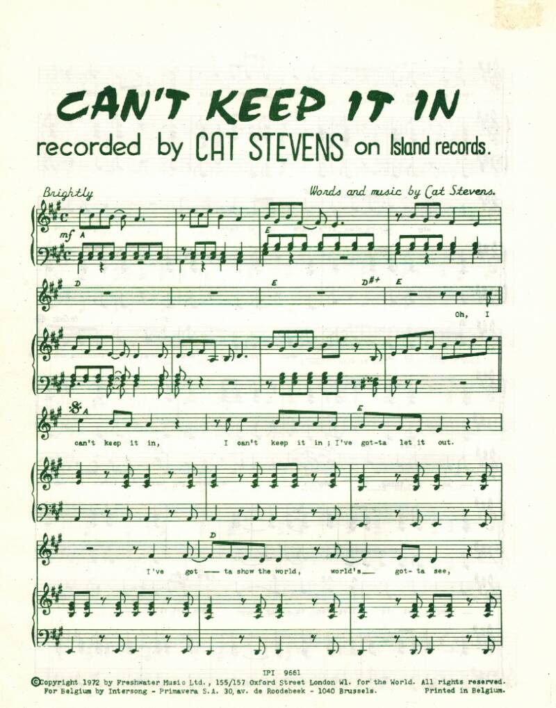 Can 't  keep it in - Cat Stevens