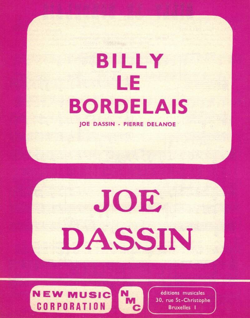 Billy le bordelais - Joe Dassin - Pierre Delande