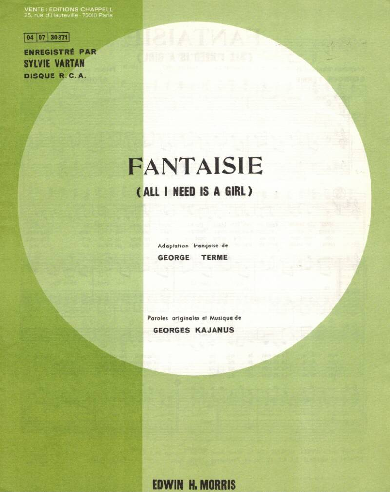 Fantaisie (All I need is a girl) - Georges Kajanus