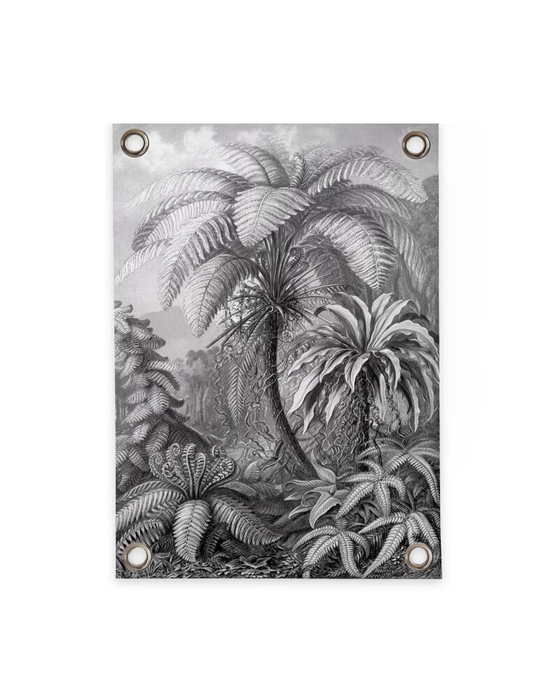 Outdoor Poster | Jungle Black & White