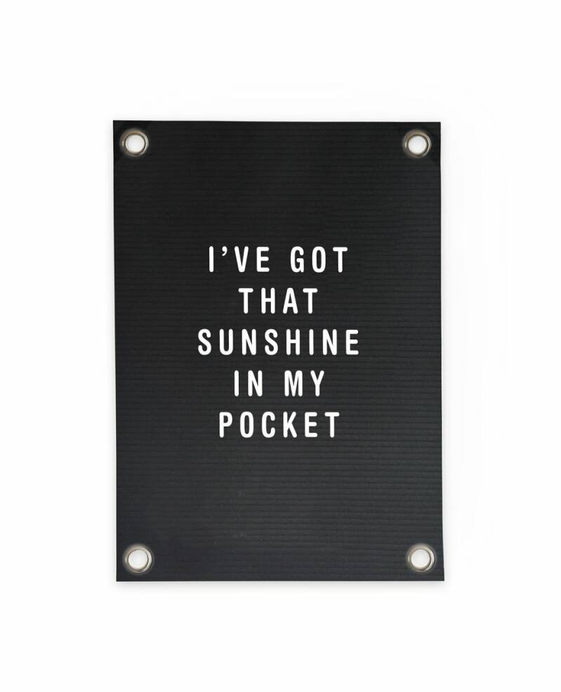 Outdoor Poster | Letterboard Sunshine in my Pocket
