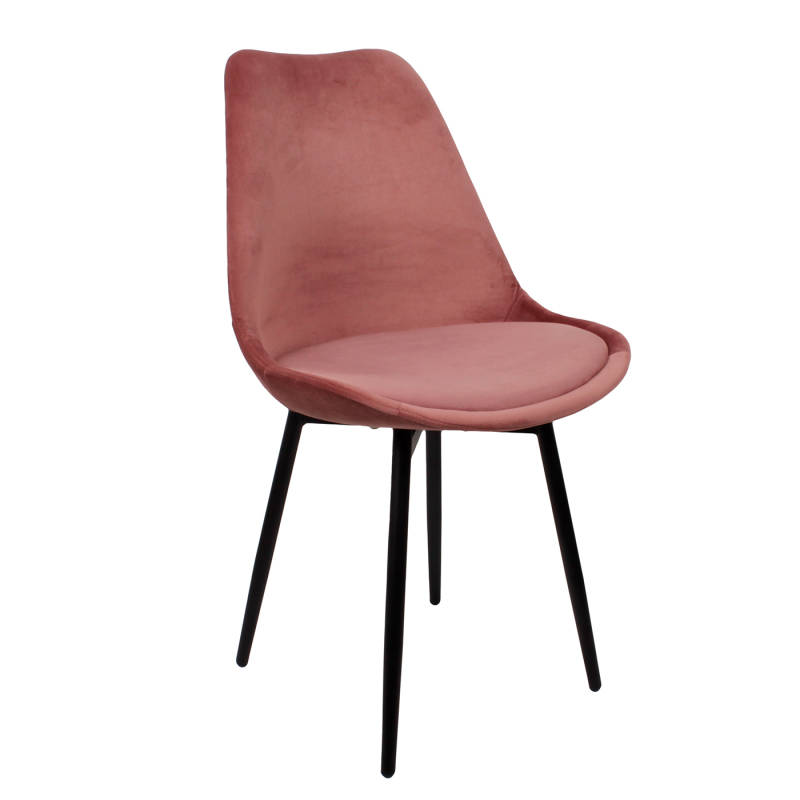 Leaf Chair | Velvet Pink