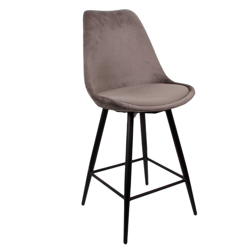 Leaf Kitchen Bar Chair | Velvet Dark Grey