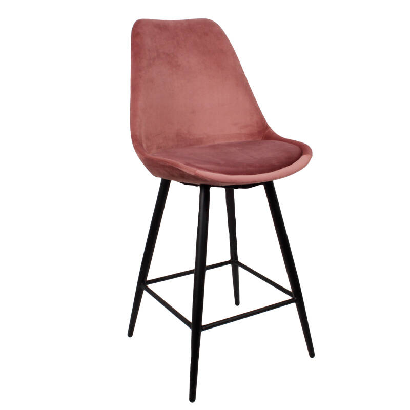 Leaf Kitchen Bar Chair | Velvet Pink