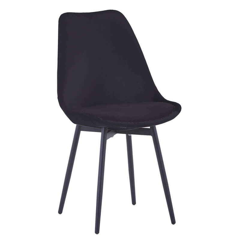 Leaf Chair | Velvet Black