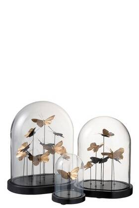 Butterfly Jar | Black and Gold