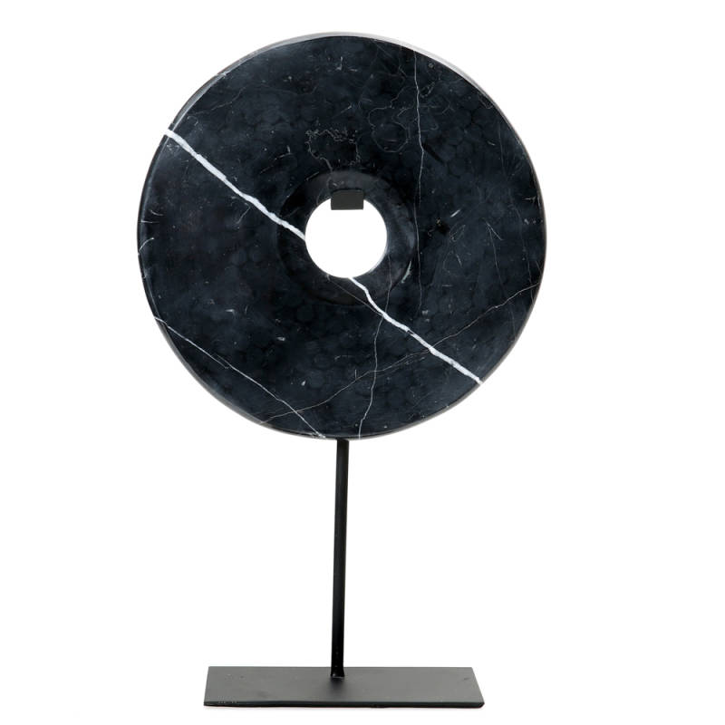 Ornament Marble Disc | Black