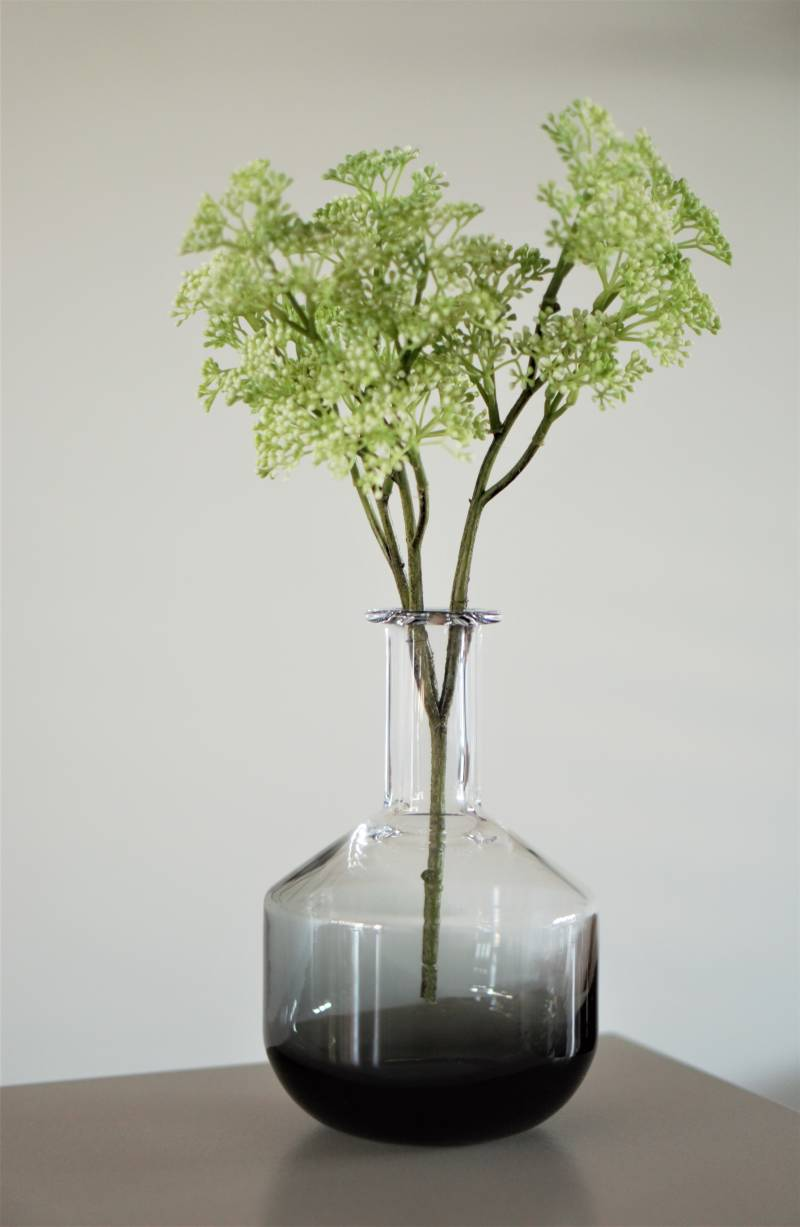 Vase | Bottle Clear Grey