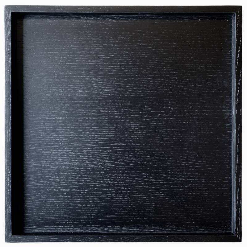 Wooden Tray Black   Huisbaas Collection