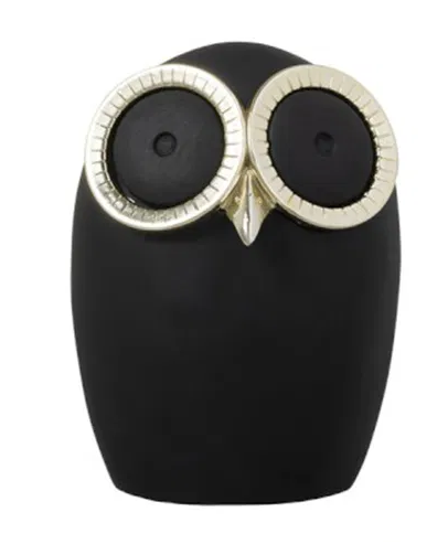 Deco Owl | Black and Gold