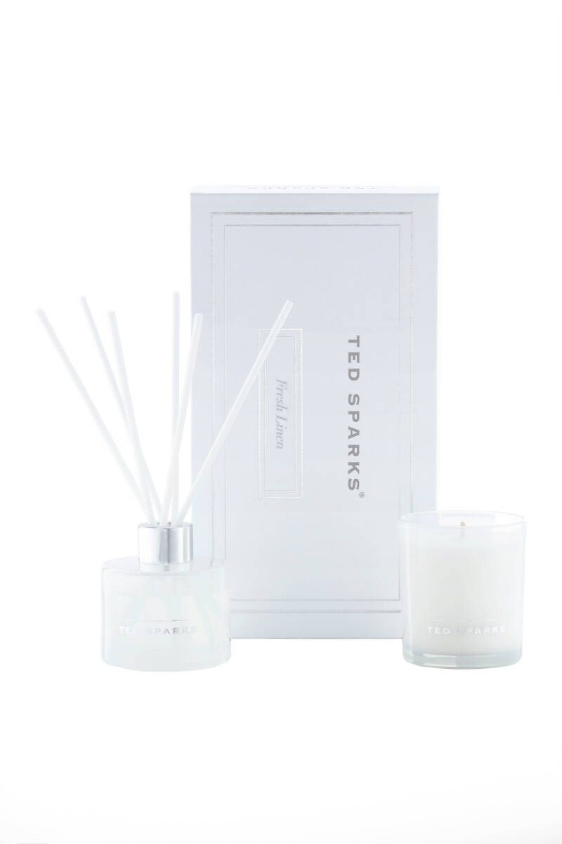 TED SPARKS - Fresh Linen Candle + Diffuser Giftset