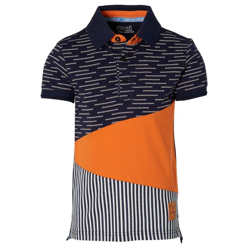 Quapi - Polo Fair Dark Blue Stripe