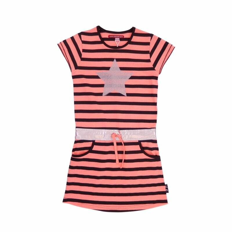 Lovestation22 - Jurk Olivia Peach Grey