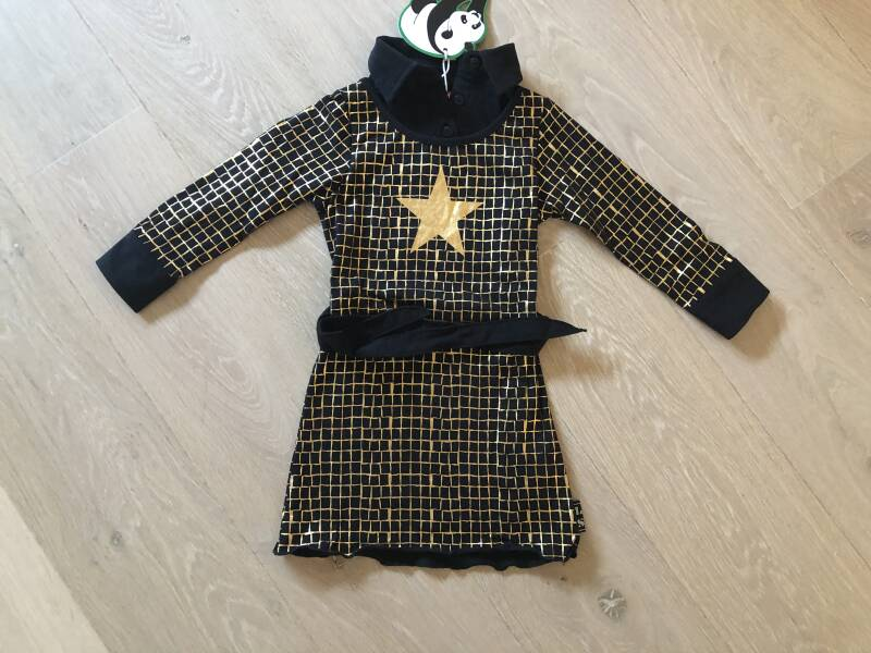 Jurk Goldstar Black & Gold