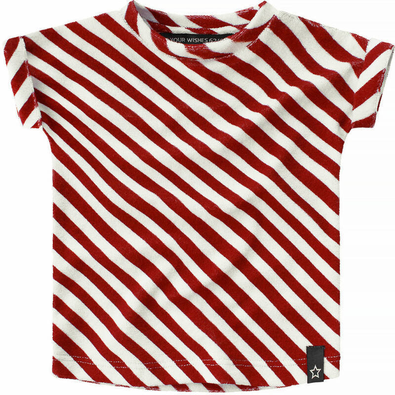 Your Wishes - Shirt Boxy Red Stripes