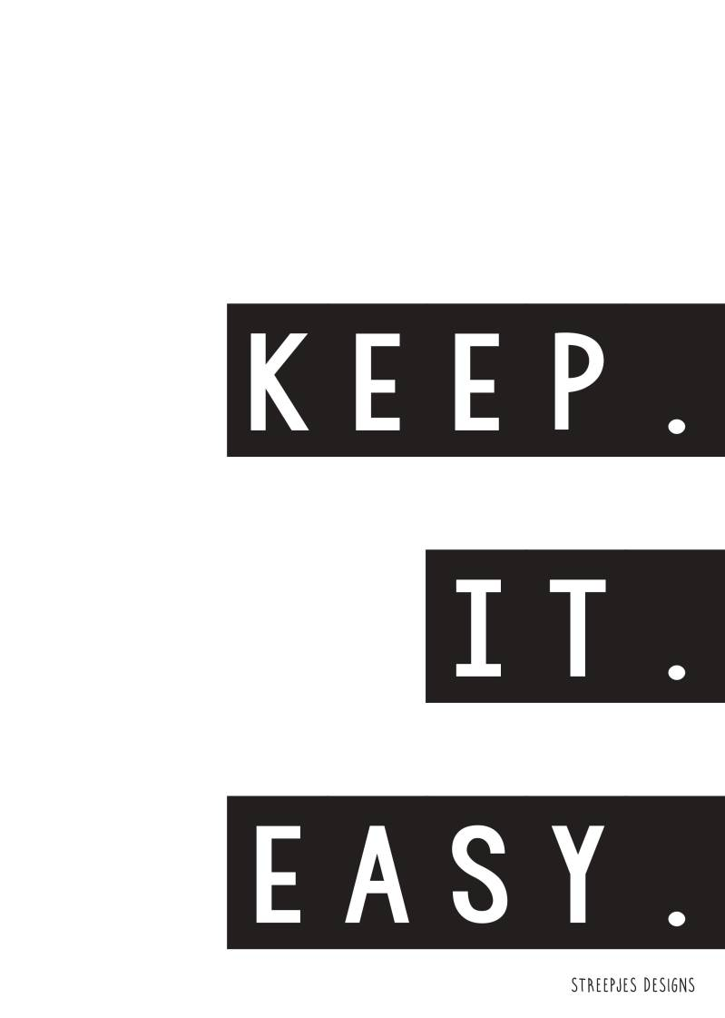 Poster | Keep it easy