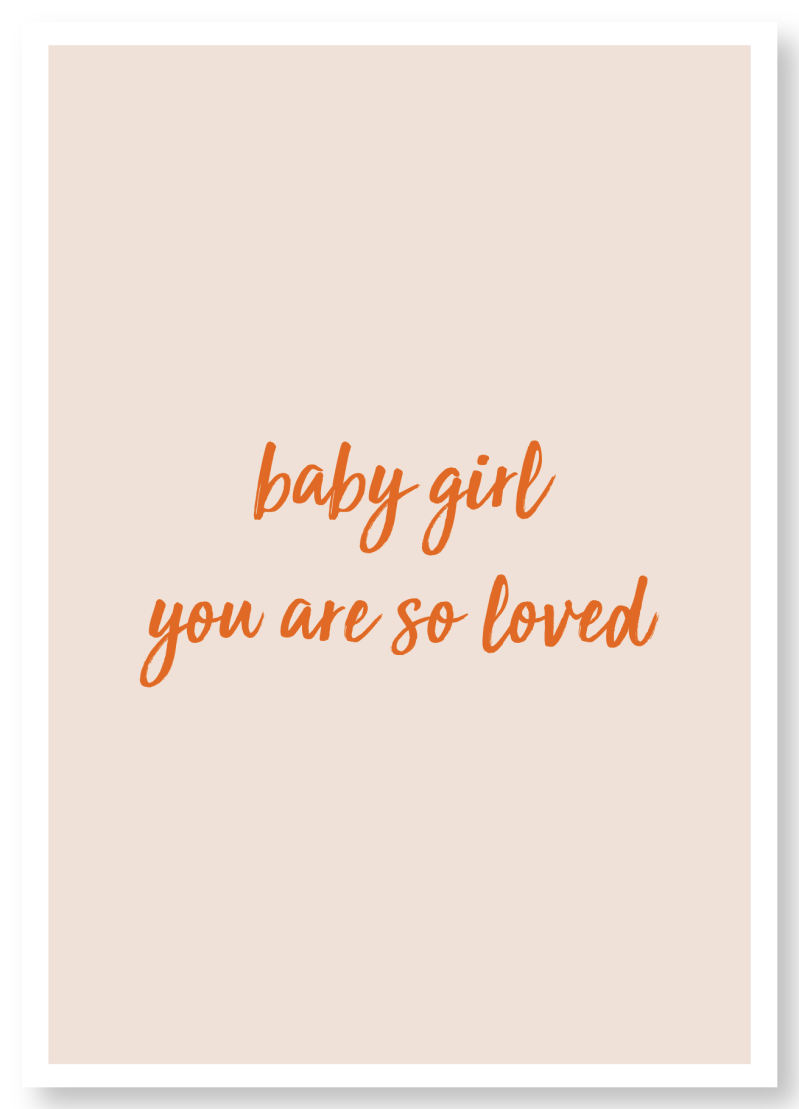WS Q-3.2020 : Baby girl, you're so loved