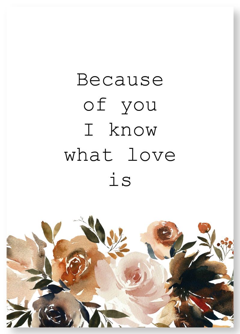 WS Q-3.2020 : Because of you I know what love is