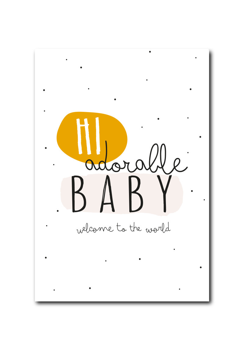 SALE : Hi Adorable baby, welcome to the world