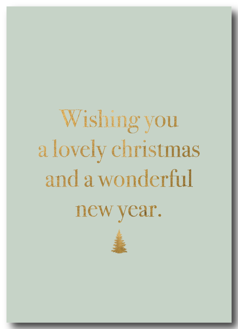 WS Q-4 : Xmas / Wishing you a wonderful Christmas and a lovely new year