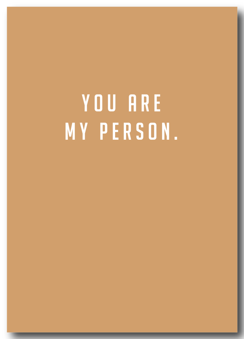 WS Q-4 : You are my person