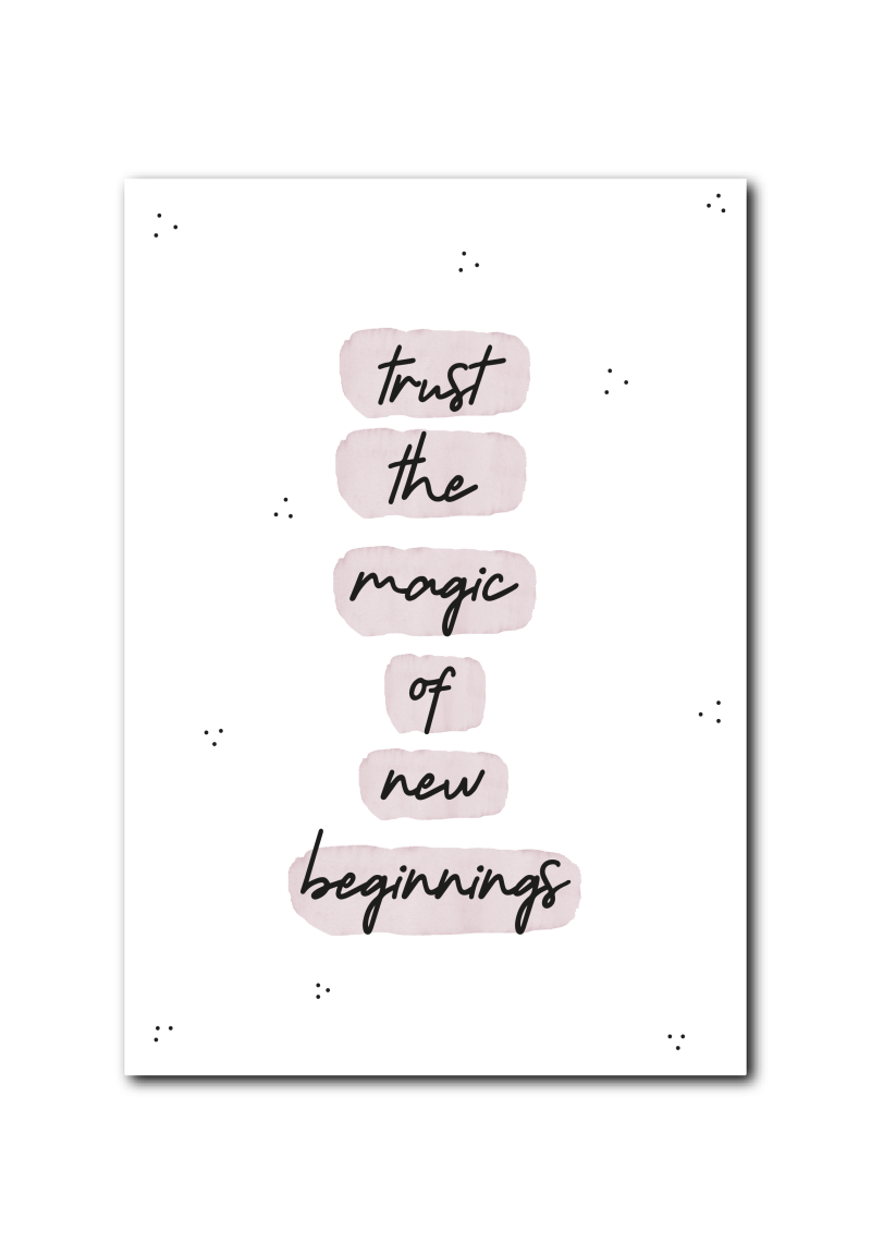 SALE  : Trust the magic of new beginnings