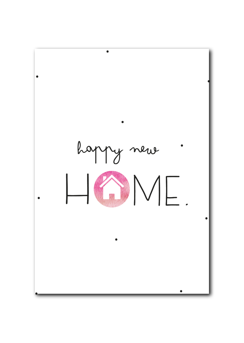 SALE : Happy new home roze huisje