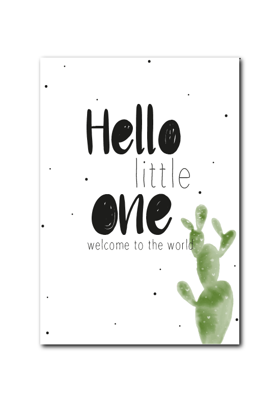 SALE : Hello little one cactus