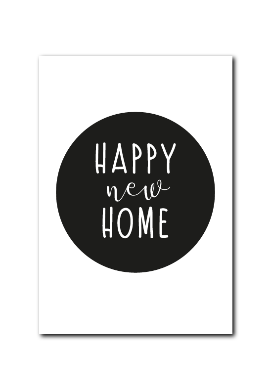 SALE : Happy new home zwart rondje