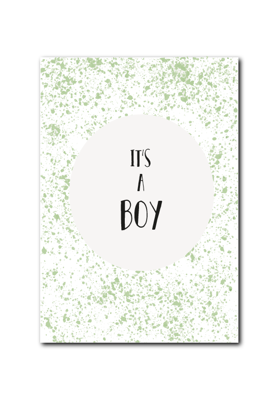 SALE : It's a boy groene spetters