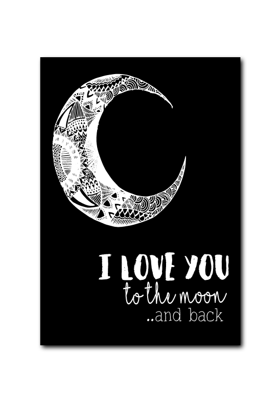 SALE : I love you to the moon and back