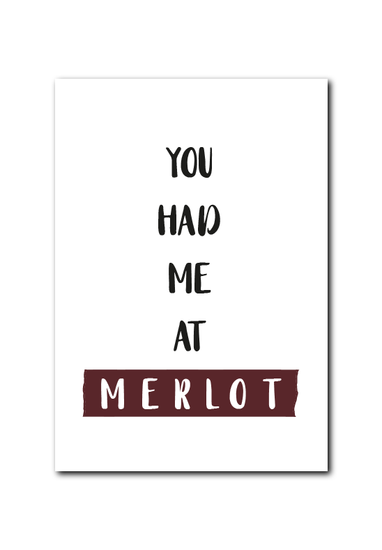SALE : You had me at merlot