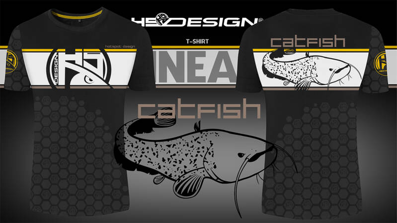 T-shirt Linear Catfish - Meerval