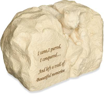Rock Pet Urn - Cat Came, Purred, Conquered    s49501