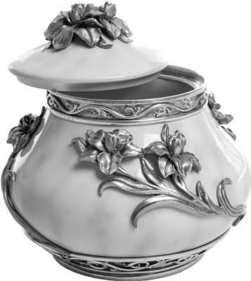 Pewter Urn - Flowers    s45322