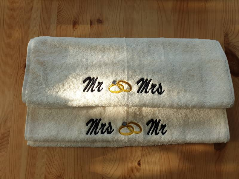 Mr en Mrs handdoek